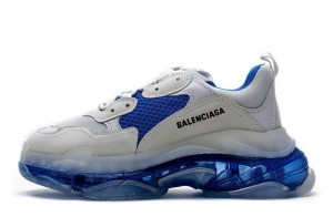 """Clear Sole """"White Blue"""""""