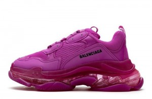 """Clear Sole """"Plum Red"""""""