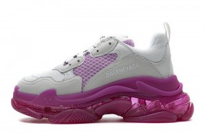 """Clear Sole """"White Pink"""""""