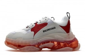 """Clear Sole """"White Red"""""""
