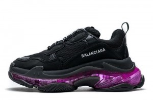 """Clear Sole """"Black Plum Red"""""""