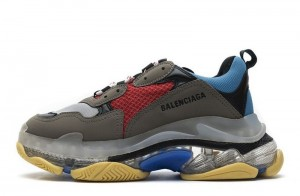 """Clear Sole """"Blue Red"""""""