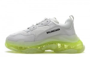 """Clear Sole """"White Green"""""""