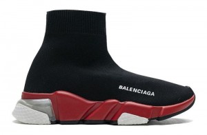 """Clear Sole """"Black Red"""""""